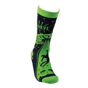 Primitives By Kathy Accessories - I Believe Aliens & UFO Adult Unisex Socks